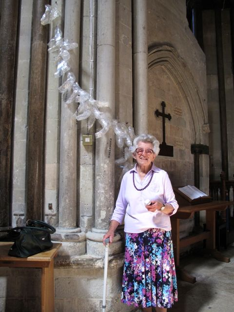 KAB Medway Art Group visit their work at Rochester Cathedral, Wendy Daws photo - 14
