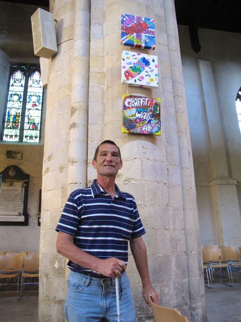 KAB Medway Art Group visit their work at Rochester Cathedral, Wendy Daws photo - 20