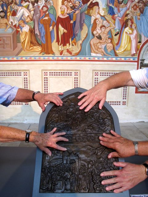 The Value of Touch, a tactile interpretation of Rochester Cathedral's Baptismal Fresco by Sergei Fyorodov