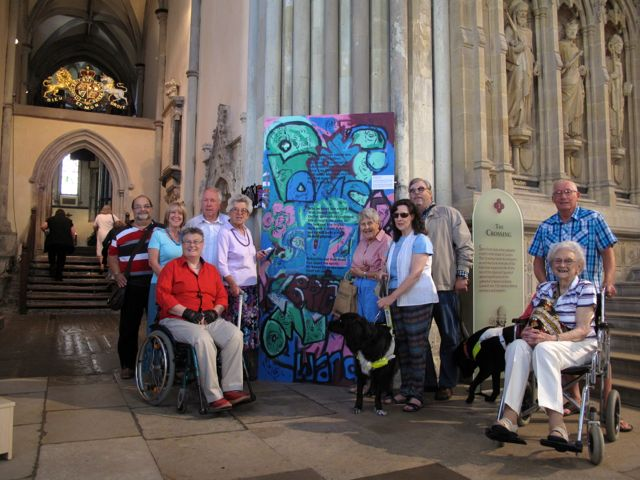 KAB Medway Art Group visit their work at Rochester Cathedral, Wendy Daws photo - 05
