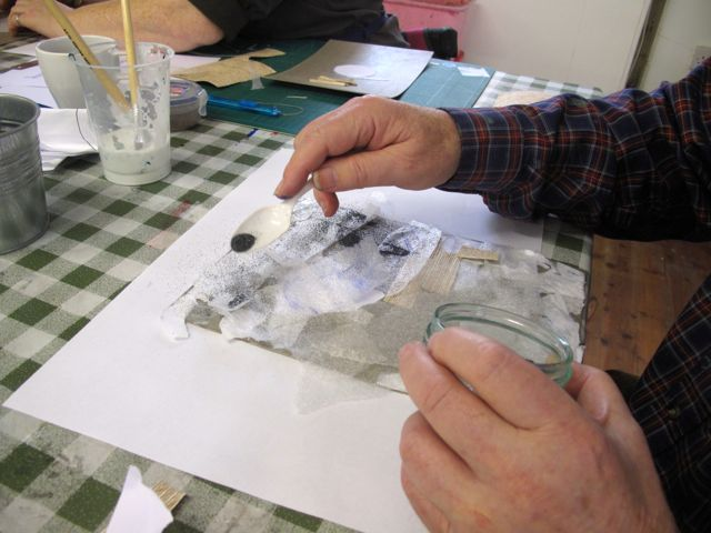 KAB Medway Art Group wk 2 Wendy Daws Tactile Timeline at Intra, photos Wendy Daws - 21