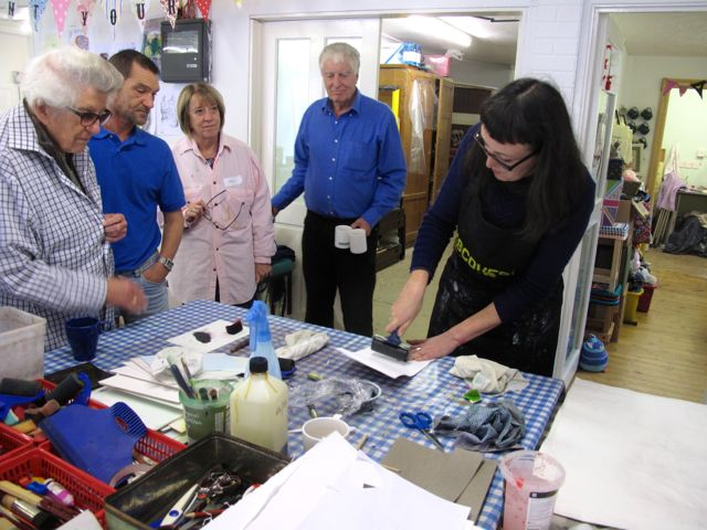 KAB Medway Art Group wk 2 Wendy Daws Tactile Timeline at Intra, photos Wendy Daws - 38