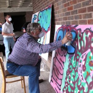 Wendy Daws Kent Association for the Blind Medway Art Group sessions held at Sun Pier House. Photo Credit Wendy Daws - 12