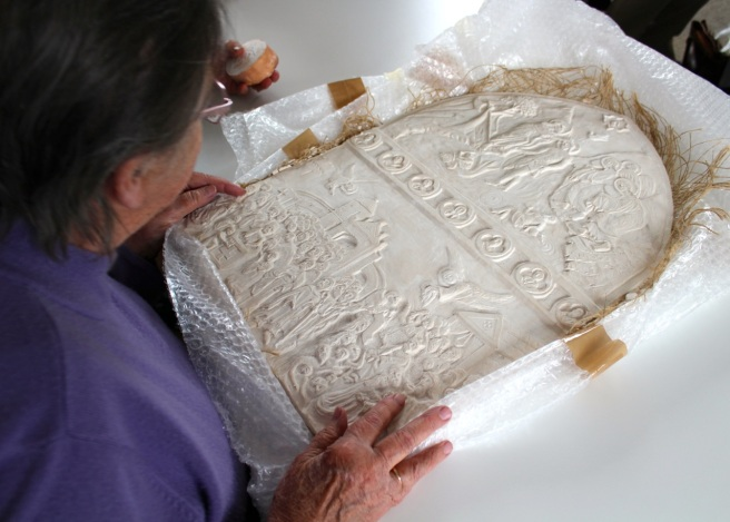 plaster replica of The Value of Touch