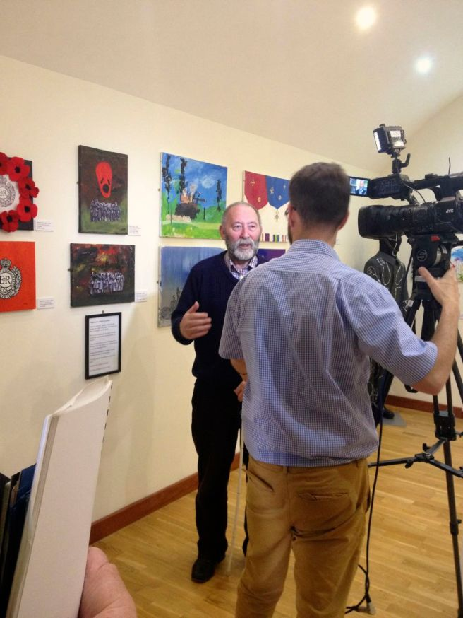KAB Medway Art at Royal Engineers BBC filming - 42
